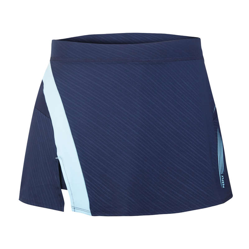 HABILLEMENT BADMINTON FEMMES Sport di racchetta - Gonna badminton donna 560 blu PERFLY - BADMINTON