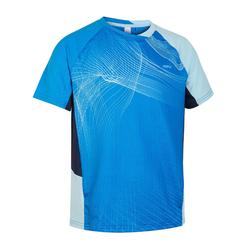 Camiseta de bádminton manga corta perlfy 560 niños azul