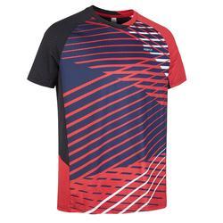 Camiseta de bádminton manga corta perfly 560 hombre roja