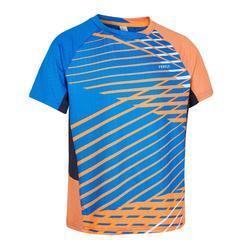 兒童款T恤560-藍橘配色