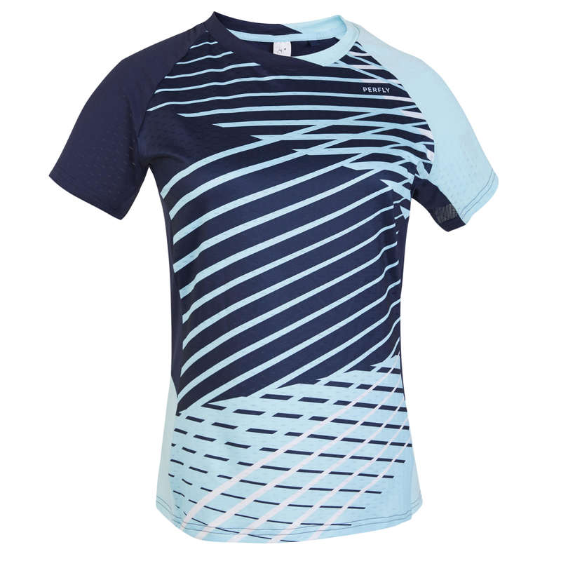 WOMEN'S INTERMEDIATE BADMINTON APPAREL Badminton - T SHIRT 560 W NAVY BLUE PERFLY - Badminton Clothing