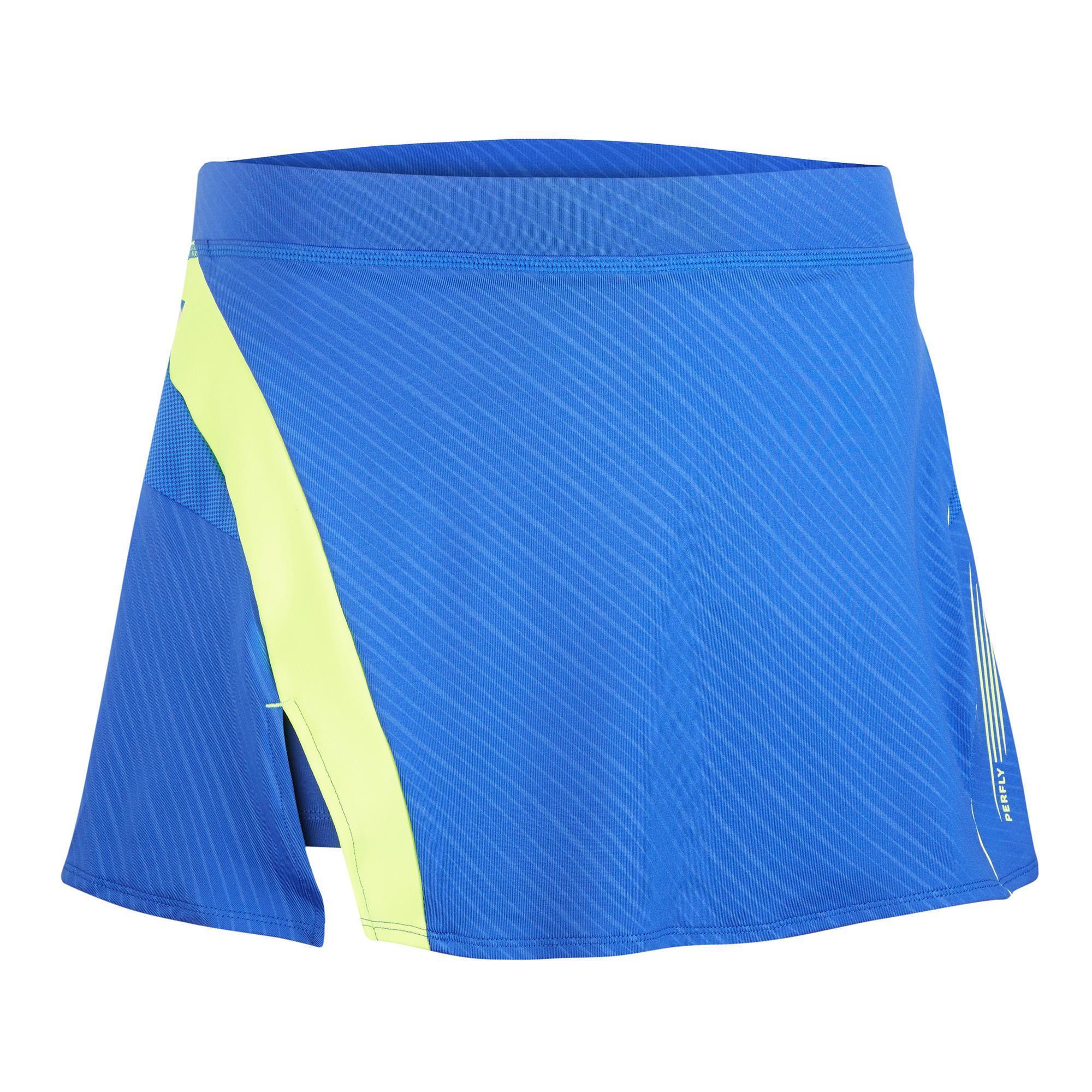 Sportrock 560 Damen blau/gelb | Bekleidung > Röcke > Sportröcke | Blau - Gelb | Perfly