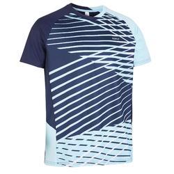 Camiseta de bádminton manga corta perfly 560 hombre azul