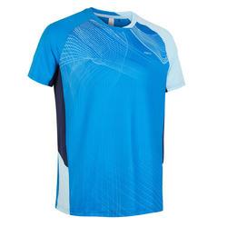 Camiseta de bádminton manga corta perfly 560 hombre azul claro