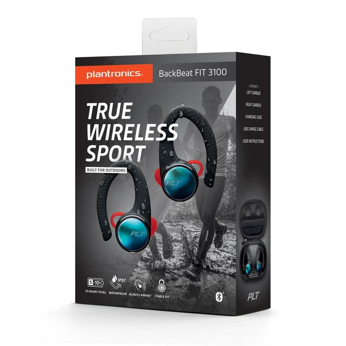 Sportoortjes bluetooth Backbeat Fit 3100 met charging case
