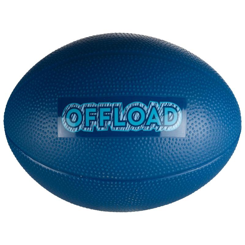 Mini R100 Recreational PVC Rugby Ball - Blue