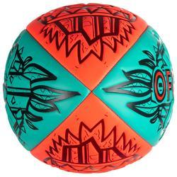 Balón de Rugby Playa Offload Tiki R100 talla 4 rojo y verde