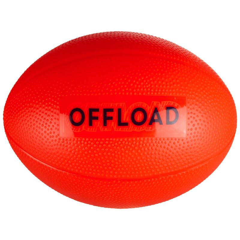 MÍČE, DOPLŇKY K MÍČŮM NA RAGBY Ragby - MÍČ R100 MINI ČERVENÝ OFFLOAD - Ragbyové míče a doplňky