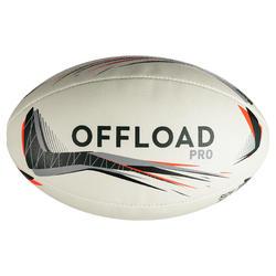 Balón rugby R900 talla 5 gris rojo