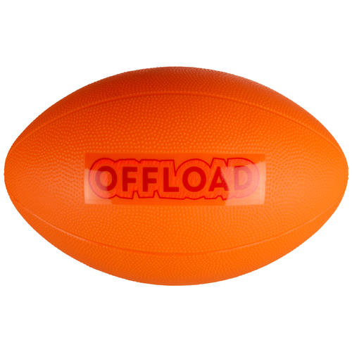 BALLON DE RUGBY LOISIR R100 Midi Orange PVC