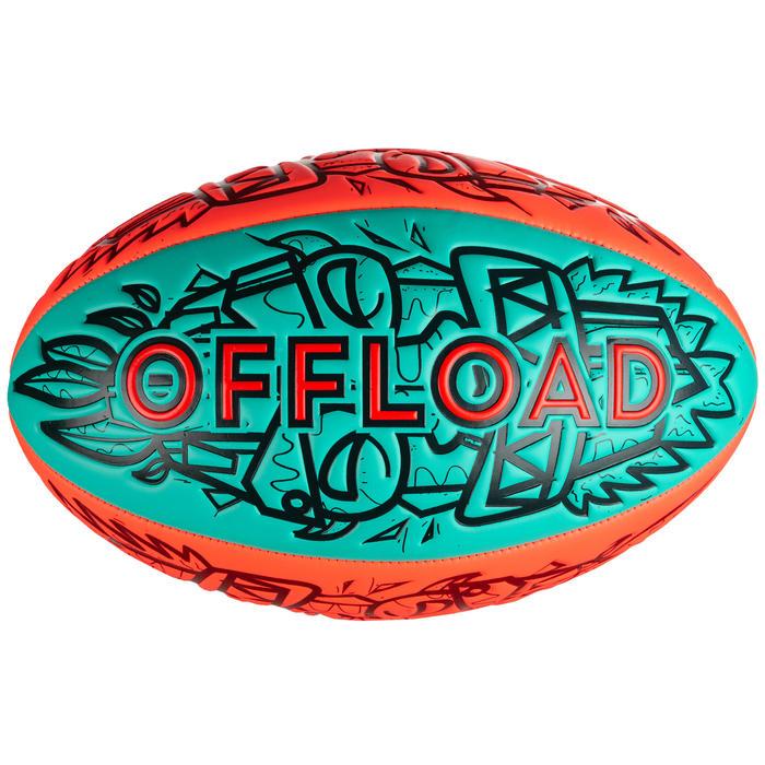 Balón de rugby playa Tiki R100 talla 4 rojo y verde