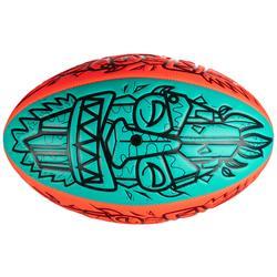 Bal voor strandrugby Tiki R100 maat 4 rood en groen
