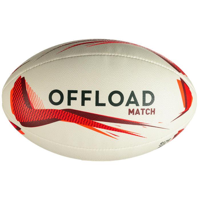 Balón de Rugby Offload R500 talla 5 rojo