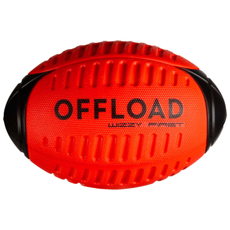 BALLS & ACCESSORIES Rugby - Wizzy R100 Ball - Red OFFLOAD - Rugby