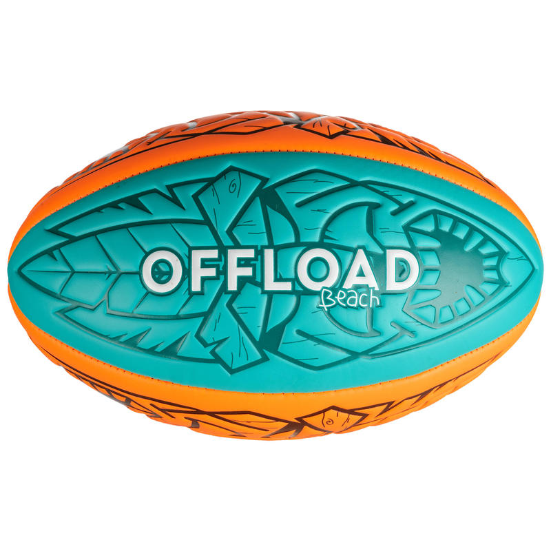 Beach Rugby Ball R100 Midi - Orange/Green