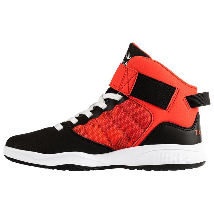 Basketballschuhe Easy SE100 Kinder rot/schwarz