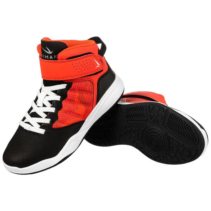SE100 Easy Boys'/Girls' Beginner Basketball Shoes - Black/Red