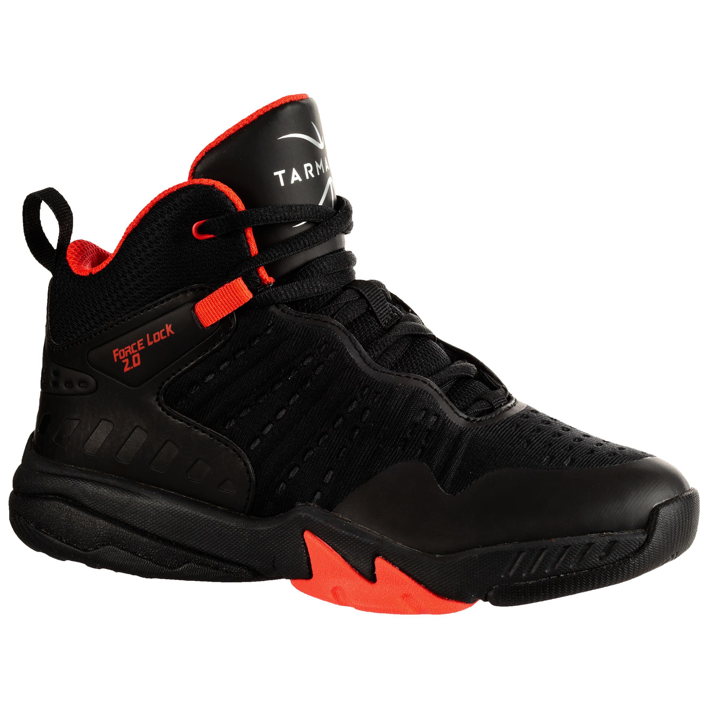 Tarmak Basketbalschoenen SS500H zwart/rood (kinderen)