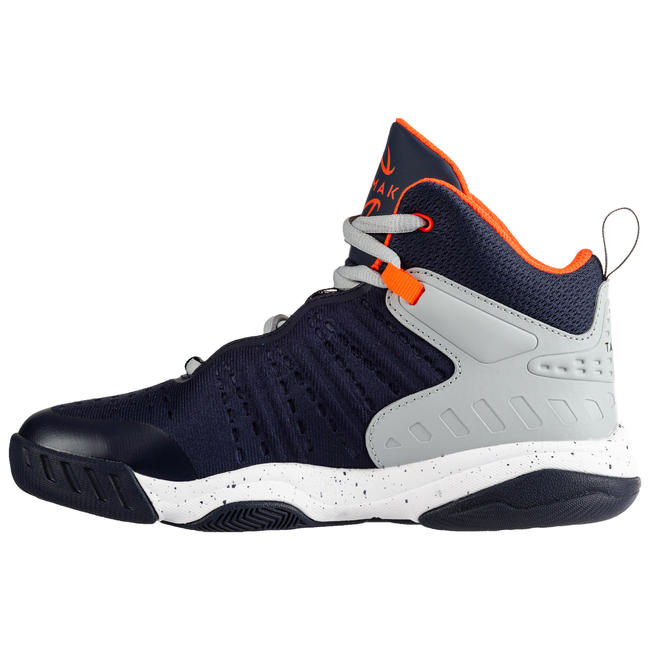 SS500H Boys'/Girls' Intermediate Basketball Shoes - Navy/Grey
