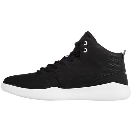 Men's/Women's Beginner High-Rise Basketball Shoes Protect 100 - Black