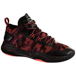 Basketbalschoenen SC500 Mid voor dames zwart roze