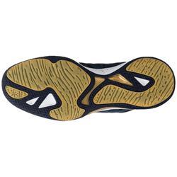 Basketbalschoenen volwassenen H/D gevorderden SC 500 Mid blauw goud