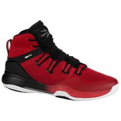 Zapatilla Baloncesto Tarmak SC500 High Negro Rojo