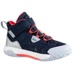 Basketbalschoenen voor gevorderde jongens/meisjes blauw/roze Spider Lace