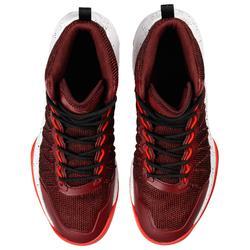 Zapatilla Baloncesto adulto perfeccionamiento Hombre/Mujer Shield 500 burd. rojo
