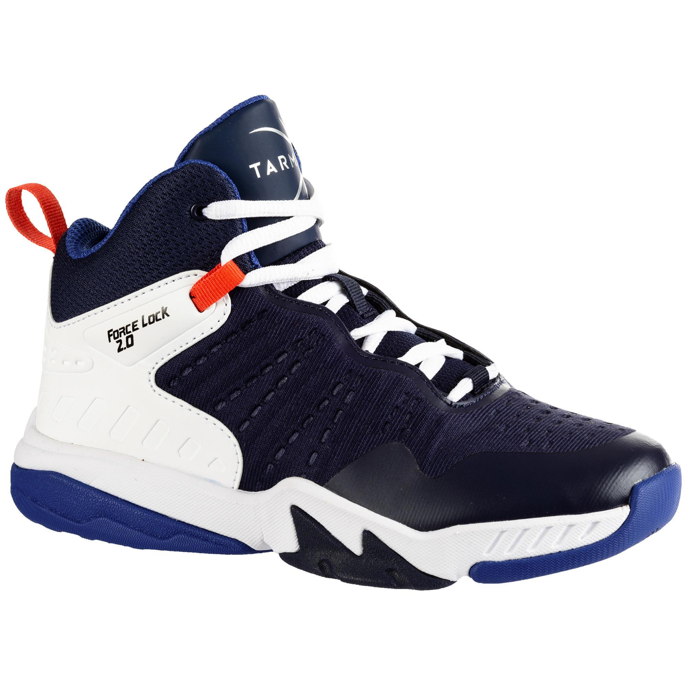 Tarmak Basketbalschoenen voor gevorderde jongens/meisjes marineblauw SS500H