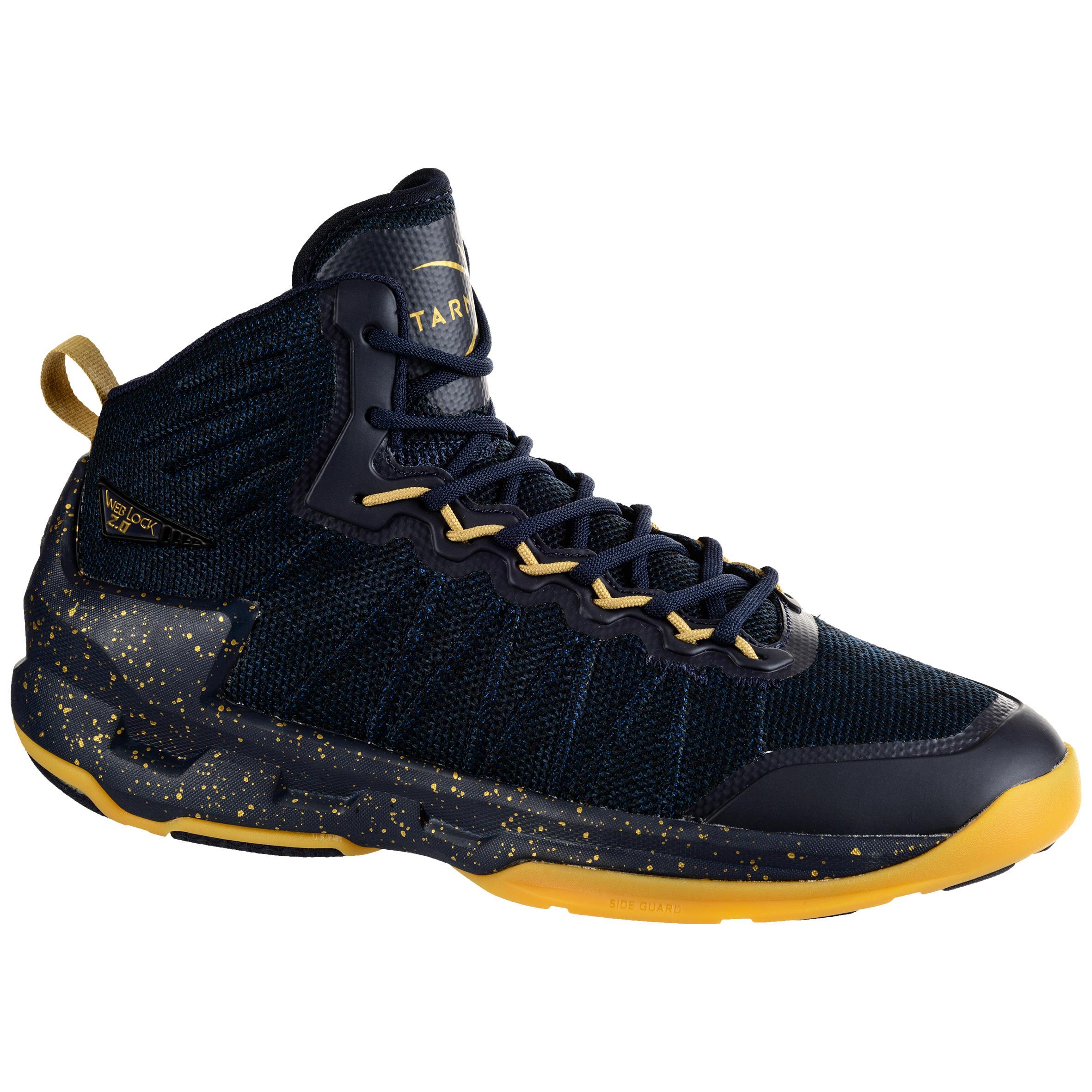 Tarmak Basketbalschoenen Shield 500 zwart/goud (heren)
