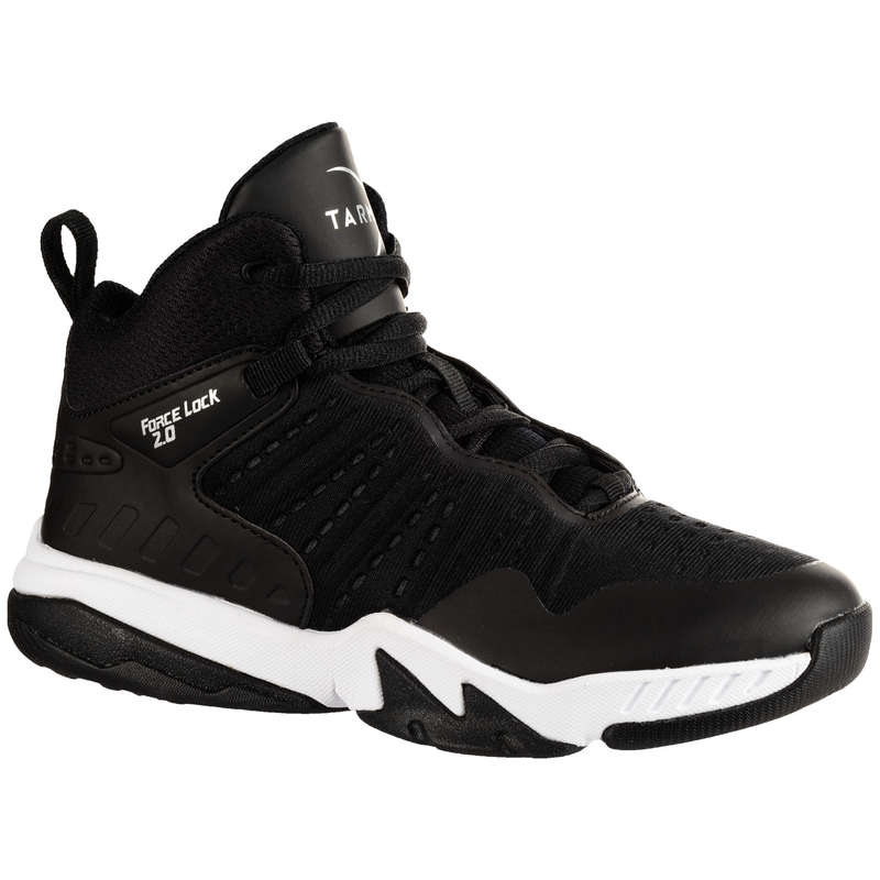 KIDS BASKETBALL FOOTWEAR Basketball - SS500H JR Shoes - Black/Black TARMAK - Basketball