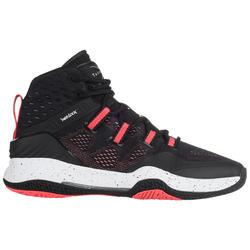 SC500 Women's High Basketball Shoes - Black/Pink