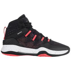 Basketbalschoenen voor dames zwart/roze SC500 High