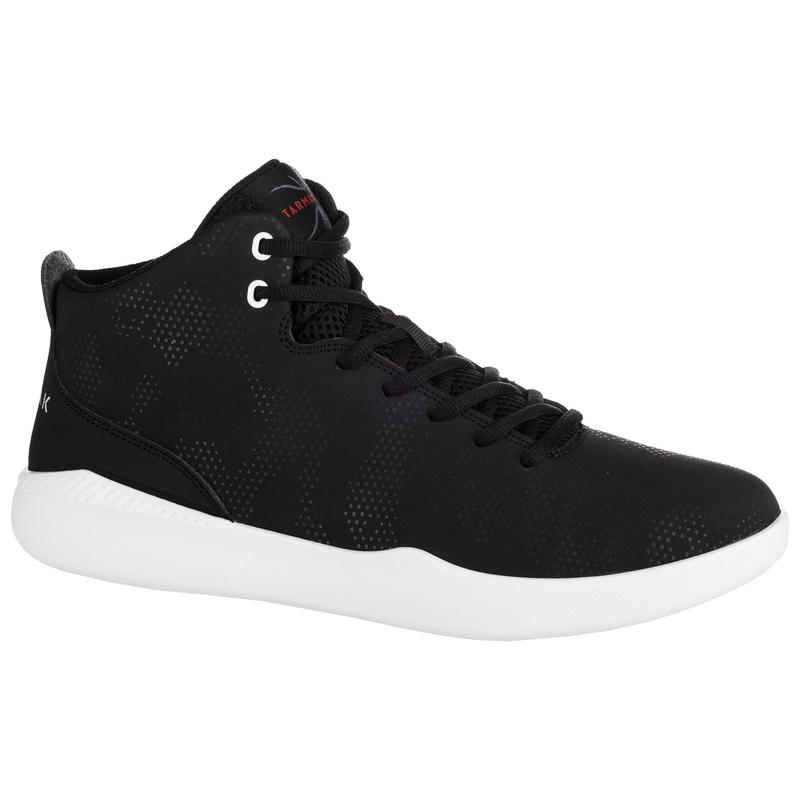 Protect 100 Beginner High-Top Basketball Shoes Black