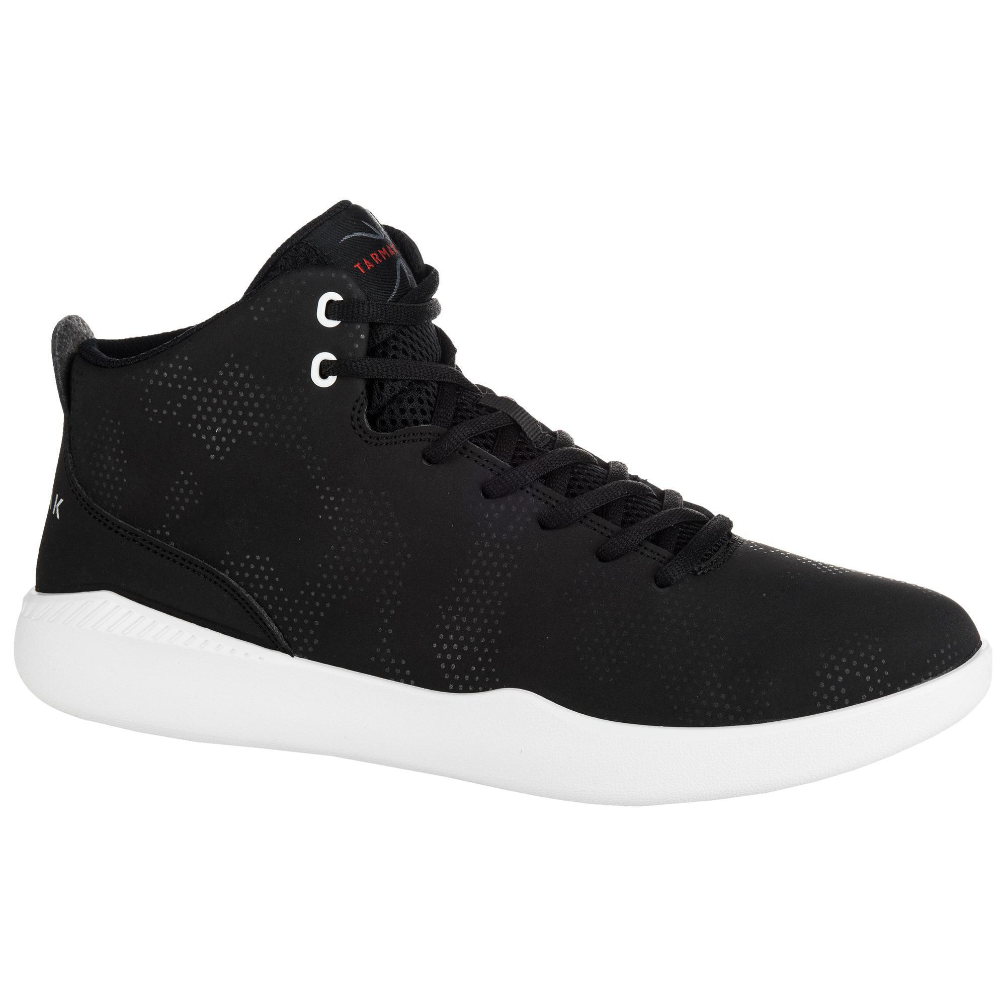 Tarmak Hoge basketbalschoenen heren/dames beginner Protect 100 zwart
