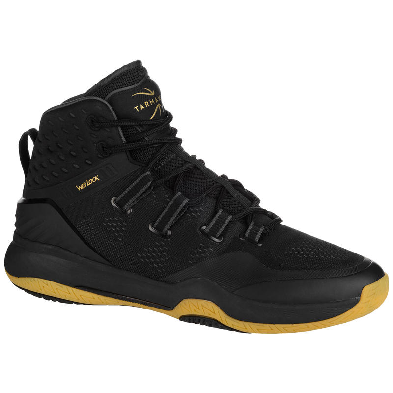 Men's High-Rise Basketball Shoes SC500 - Black/Gold
