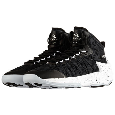 Chaussures de basketball Shield 500 noir/blanches - Hommes