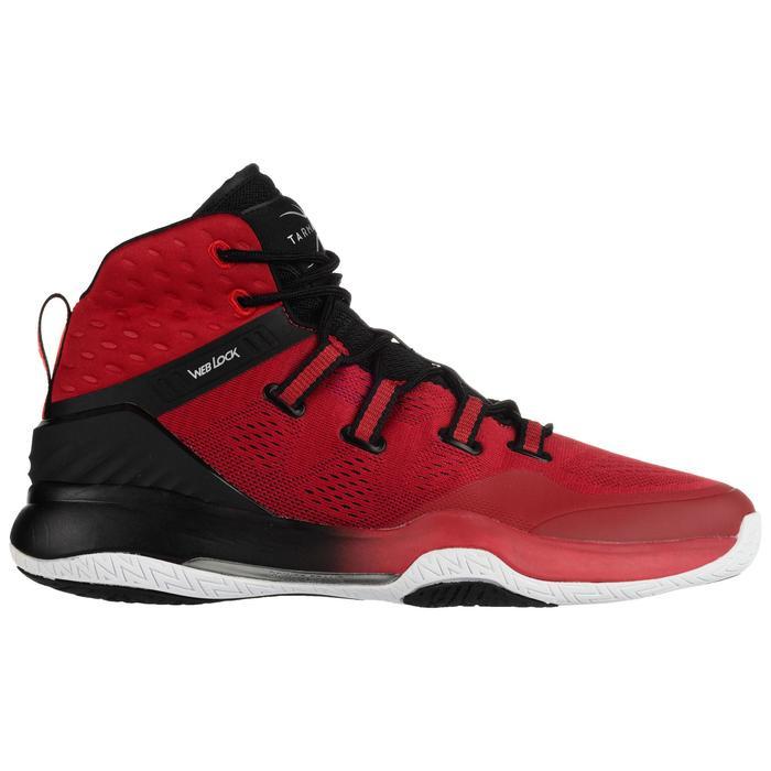 Basketbalschoenen voor volwassenen H/D halfgevorderden SC 500 High rood/zwart