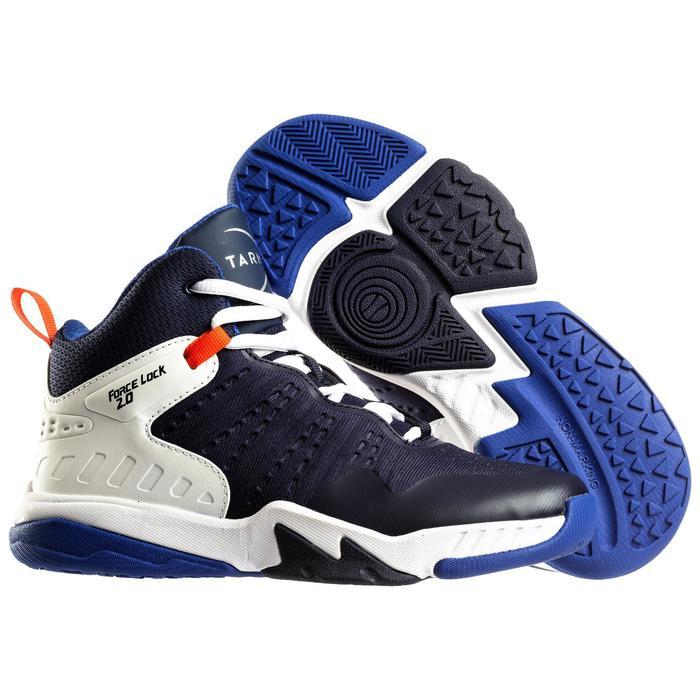 Basketbalschoenen voor gevorderde jongens/meisjes marineblauw SS500H