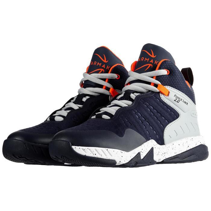 Basketbalschoenen voor gevorderde jongens/meisjes marineblauw grijs SS500H