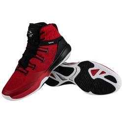 Basketbalschoenen voor heren SC500 rood/zwart hoog model