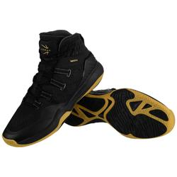 Basketbalschoenen voor heren SC500 zwart/goud hoog model