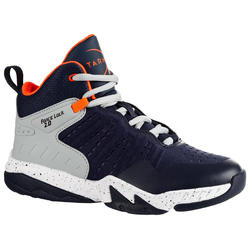 SS500H Boys'/Girls' Intermediate Basketball Shoes - Navy/Grey
