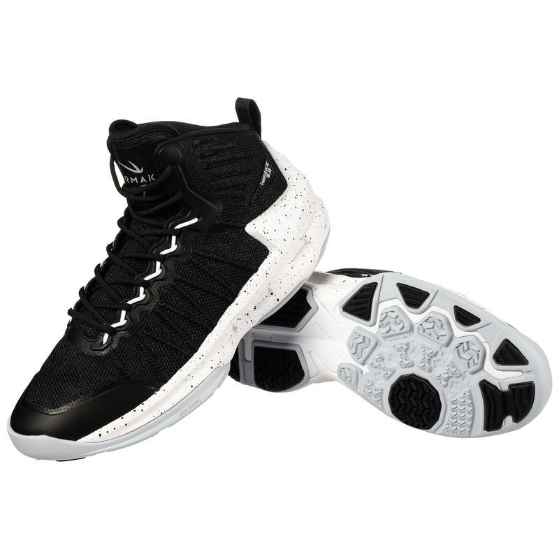 Shield 500 Adults' Unisex Intermediate Basketball Shoes - Black/White