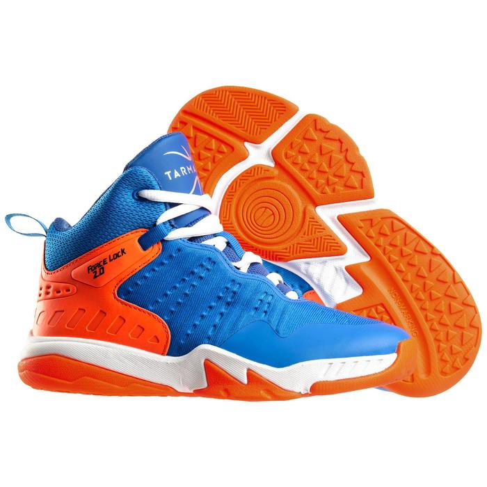 SS500H Boys'/Girls' Intermediate Basketball Shoes - Blue/Orange