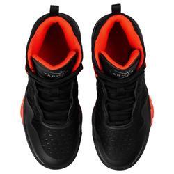 Zapatilla Baloncesto Tarmak SS500H Niños Negro Rojo