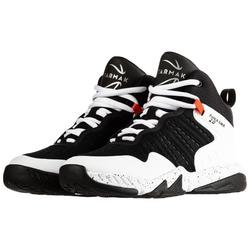 SS500H Boys'/Girls' Intermediate Basketball Shoes - Black/White