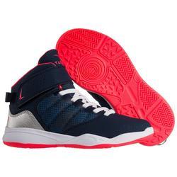 Basketbalschoenen SE100 Easy voor beginnende jongens/meisjes marineblauw roze