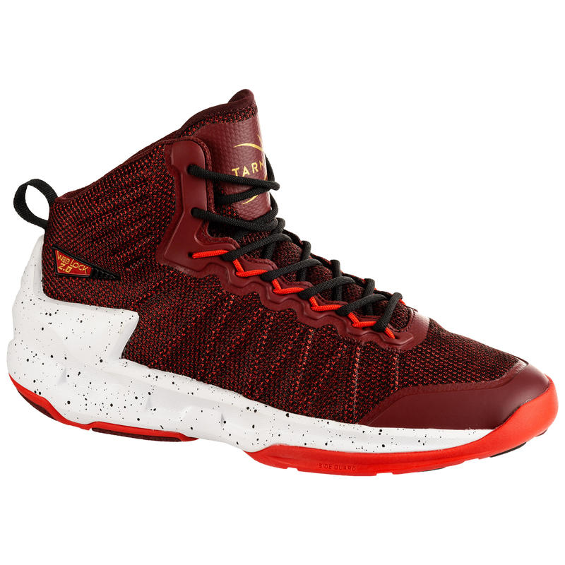 Shield 500 Adults' Unisex Intermediate Basketball Shoes - Burgundy/Red